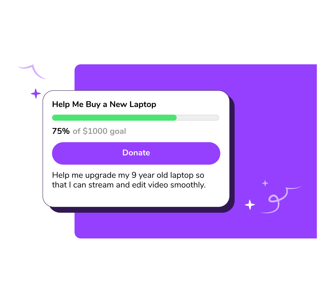 Ko-fi for crowdfunding