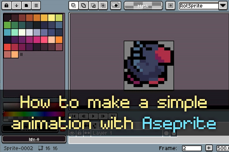 Pixel Art Tutorial How To Make A Simple Animation In Aseprite Ko Fi Where Creators Get Donations From Fans With A Buy Me A Coffee Page